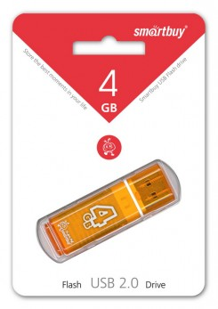 USB накопитель Smartbuy 4GB Glossy series Orange (SB4GBGS-Or)