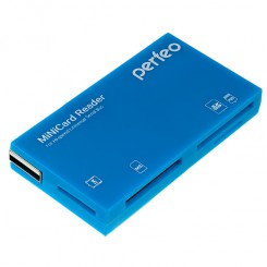 Perfeo Card Reader SD/MMC+Micro SD+MS+M2 (PF-VI-R018 Blue)