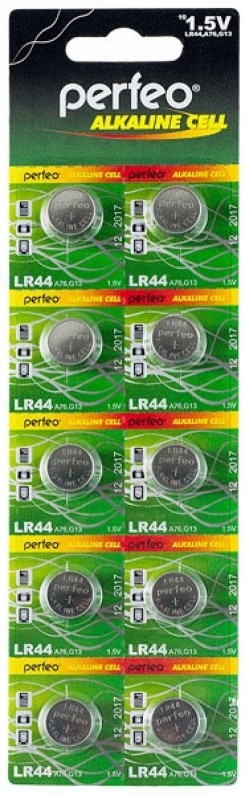 Perfeo LR44/10BL Alkaline Cell 357A AG13