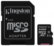 Kingston Canvas Select SDCS/64GB microSDXC 64GB (с адаптером)