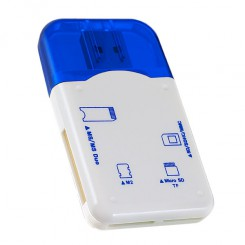 Perfeo Card Reader SD/MMC+Micro SD+MS+M2 (PF-VI-R010) Blue