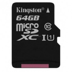 Карта памяти Kingston Canvas Select SDCS/64GBSP microSDXC 64GB