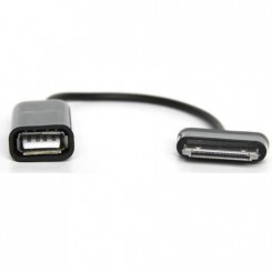 Переходник для SAMSUNG type, 30pin (M) -> USB2.0 (F), Host OTG, KS-is (KS-134)