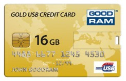 GoodRAM GOODDRIVE Gold USB Credit Card 16Gb