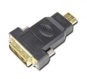 Адаптер Gembird A-HDMI-DVI-1 HDMI (male) to DVI (male) adapter with gold-plated connectors, bulk package