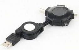 Адаптер A-USB4TO1 Retractable USB adapter